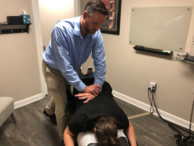 Chiropractic Adjustment at Babcock Chiropractic & Wellness Center