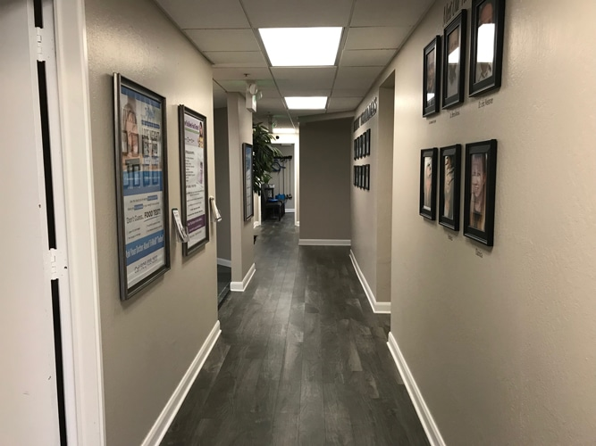 Hallway at Babcock Chiropractic & Wellness Center