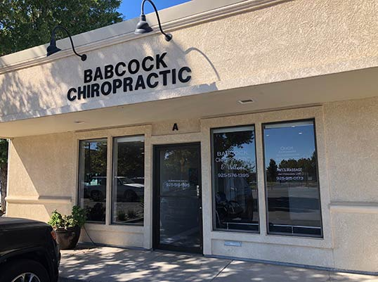 Chiropractic Brentwood CA Babcock Chiropractic and Wellness Center Front Door Daylight